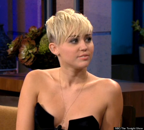 Miley Cyrus' Cleavage-Baring Top: Teen Star Risks Having A Nip Slip On ...