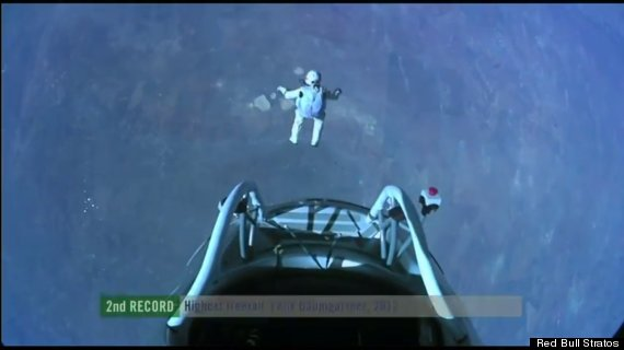 Red Bull Skydive >> Felix Baumgartner Jump: 'Red Bull Stratos' Daredevil Tries Edge-Of-Space Skydive (LIVE UPDATES ...