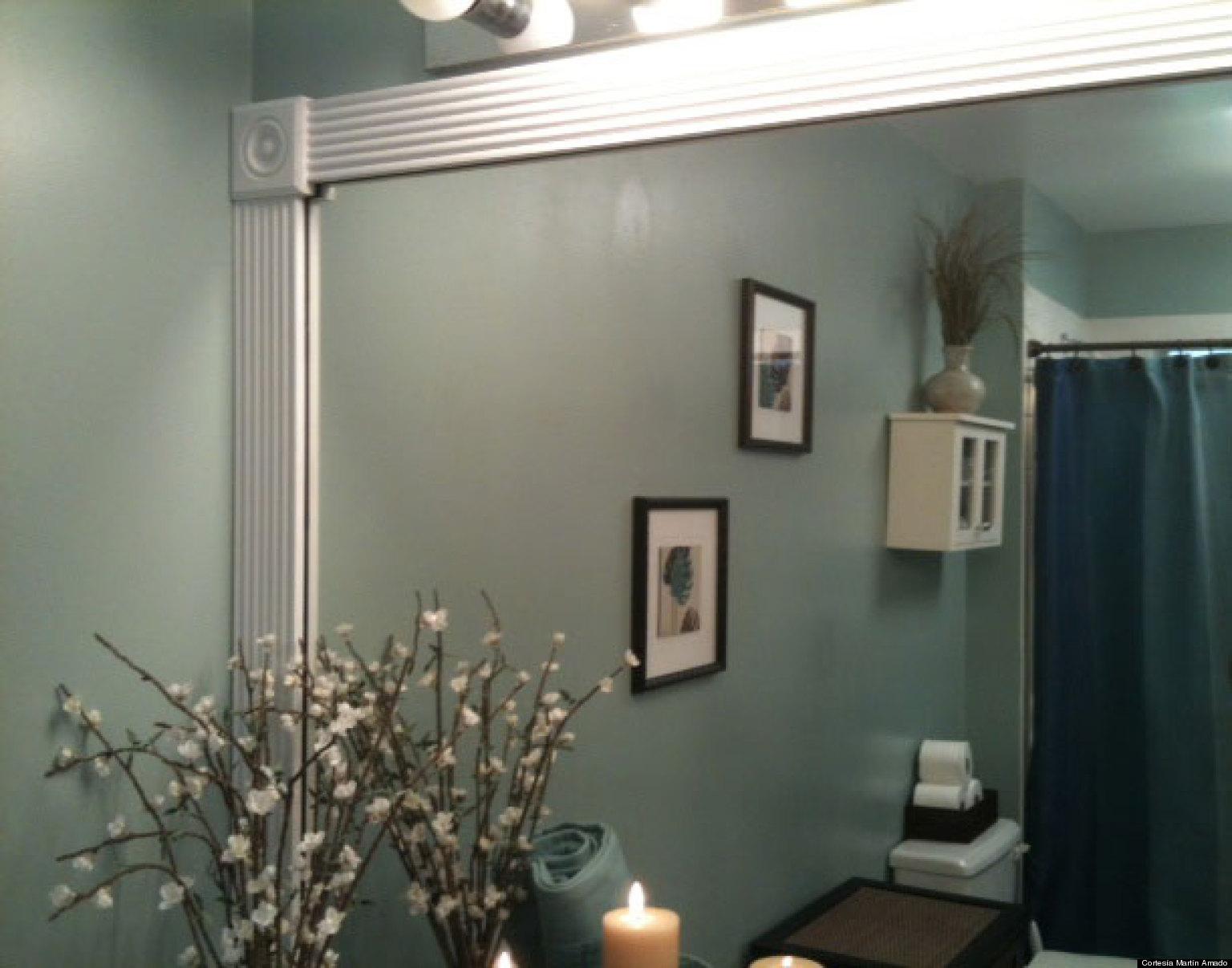 Transforma el espejo de tu ba o en uno m s elegante video - Espejo de banos ...