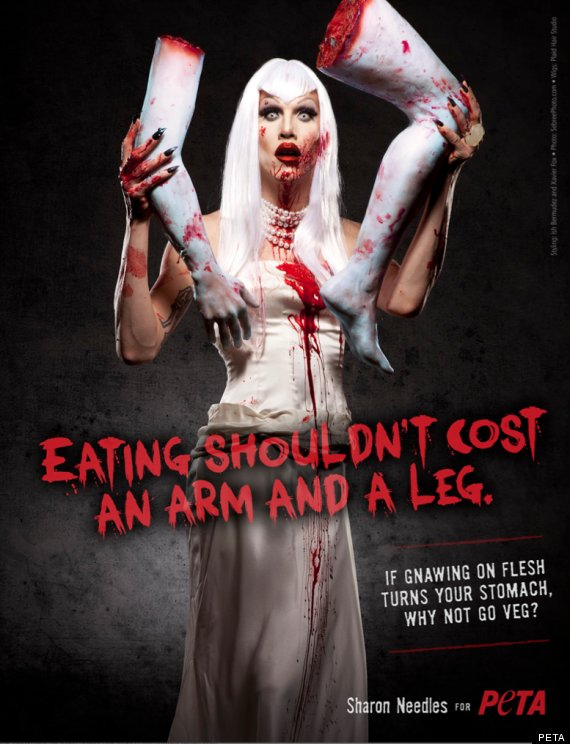 sharon needles halloween flesh eating peta ad phot