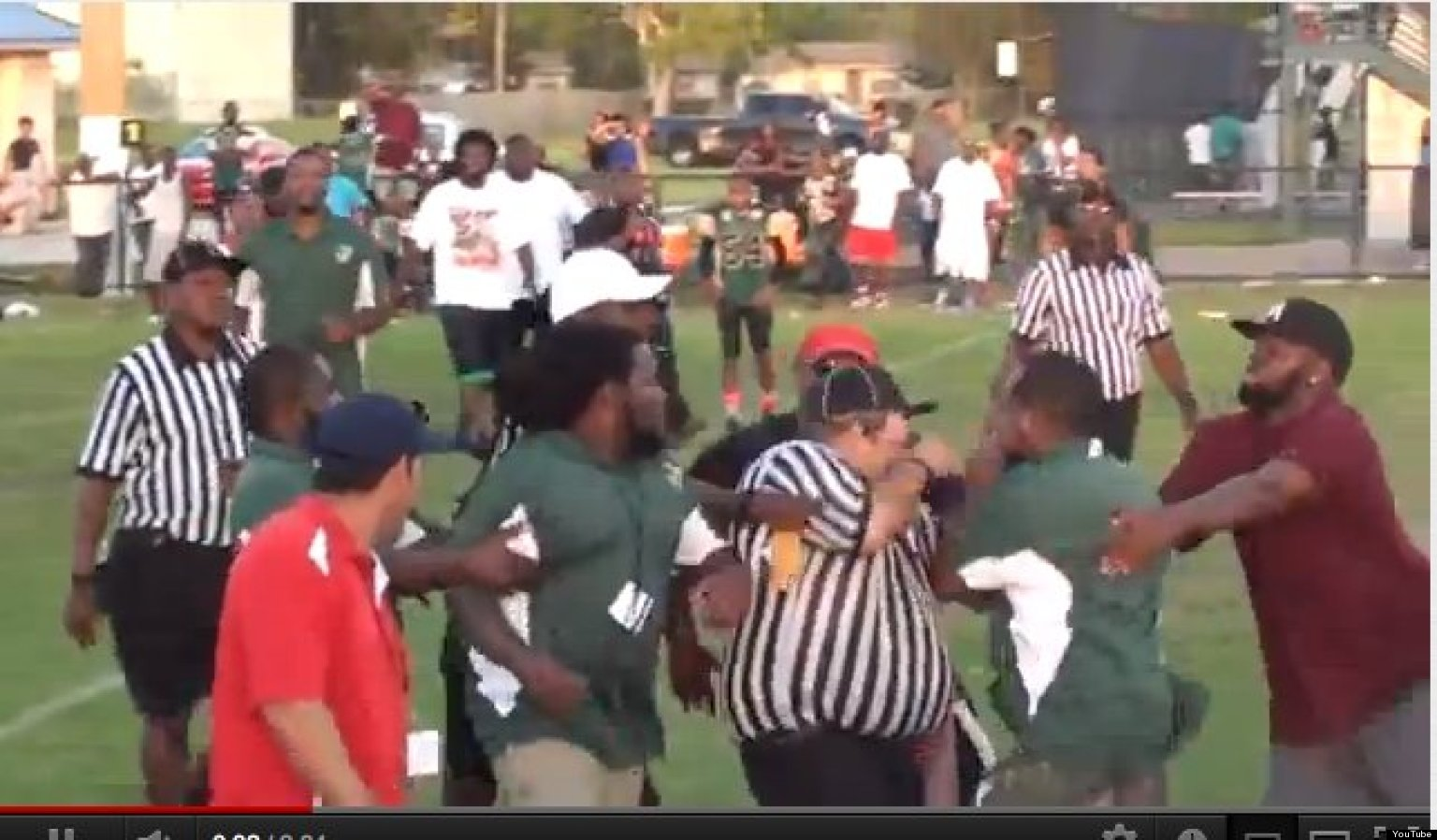 Football Kid Gets Laid Out