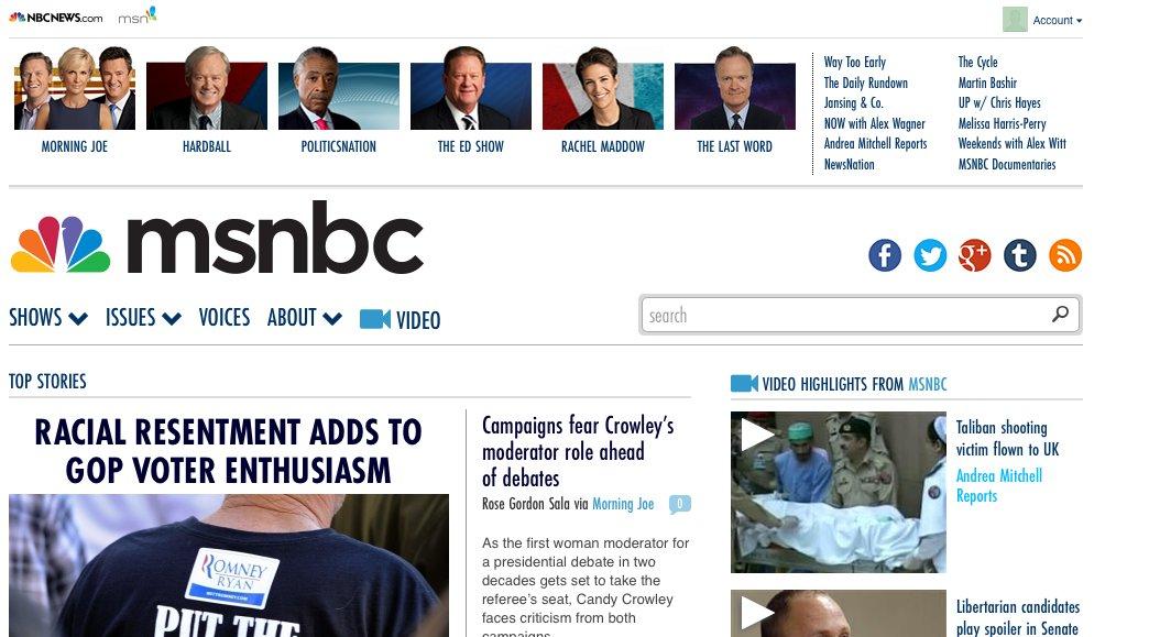 msnbc website