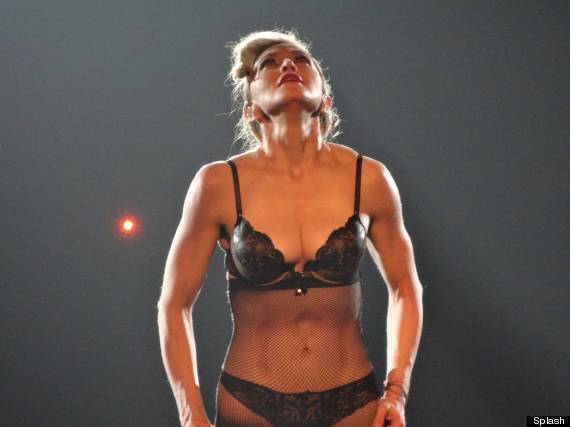 When it was time for the nightly striptease, Madonna revealed a new ...