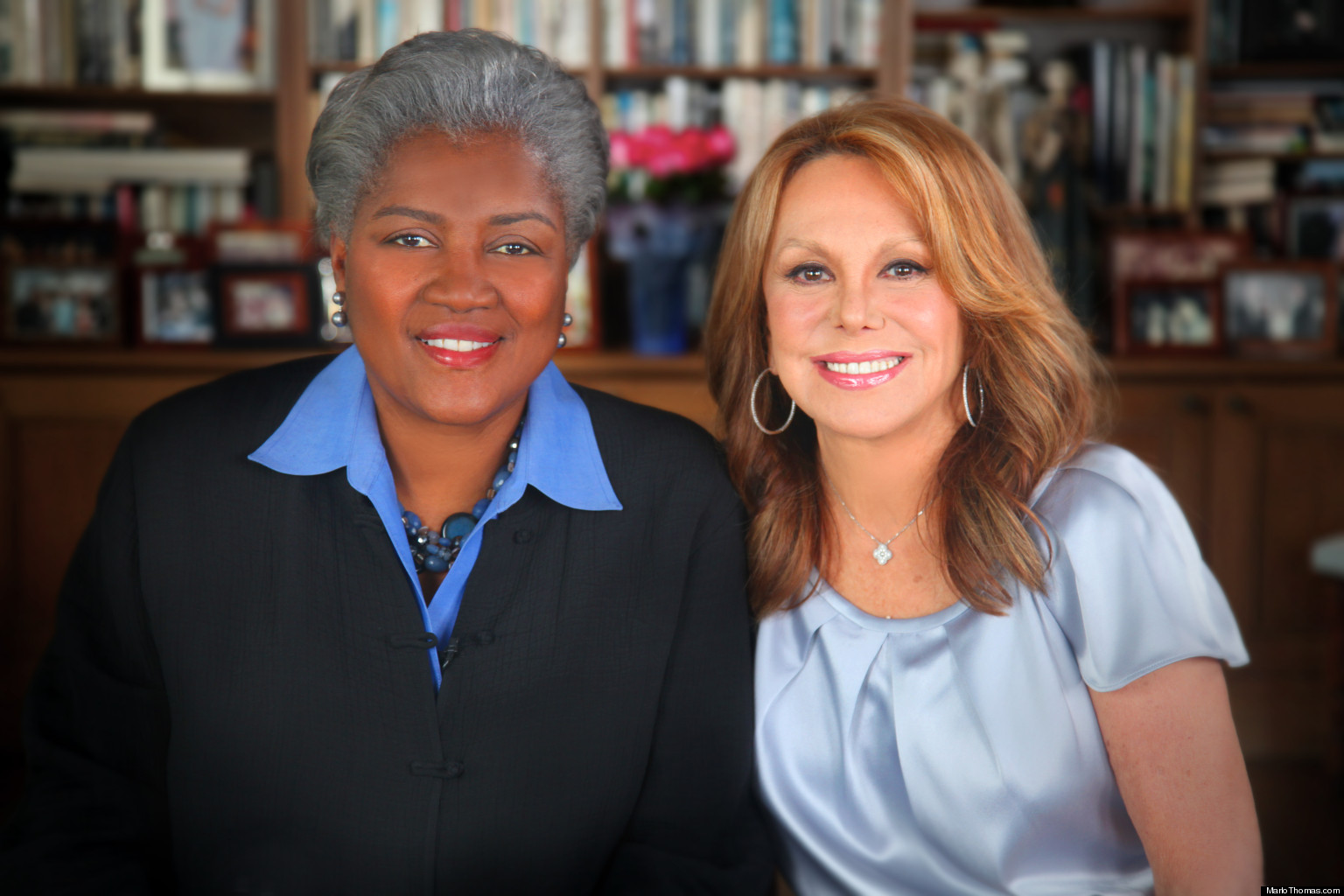 Donna brazile with marlo thomas watch the huffington post