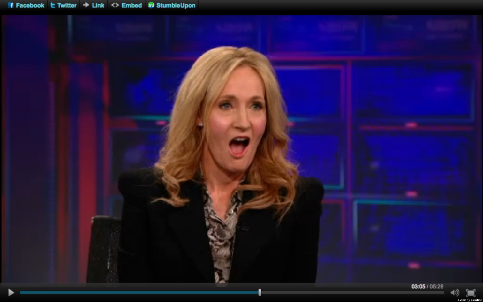 jk rowling on the daily show expresses shock at american jk rowling on the daily show expresses shock at american politics video the huffington post