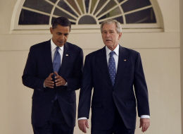 Barack Obama And George Bush