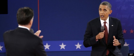 Obama Romney Presidential Debate Photos
