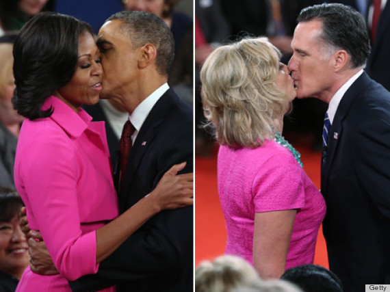 michelle obama ann romney pink