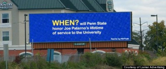 JOE PATERNO BILLBOARDS