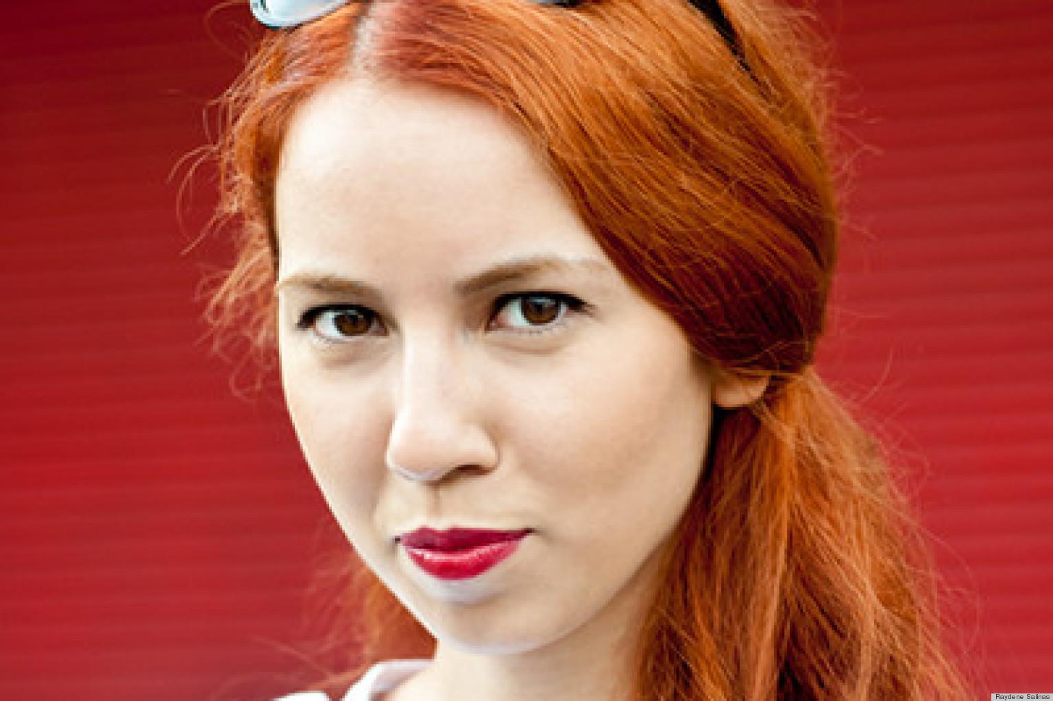 Beauty Street Style: Gizem Kuruz, Theory Intern, Makes Red
