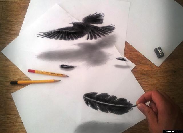 Рисунки карандашом триде как рисовать