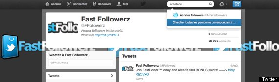 faux followers twitter