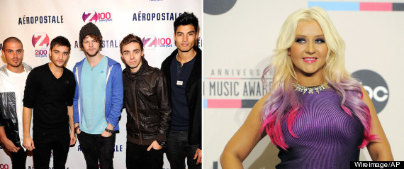 THE WANTED CHRISTINA AGUILERA FEUD