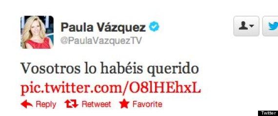 PAULA VAZQUEZ POLMICA TWITTER