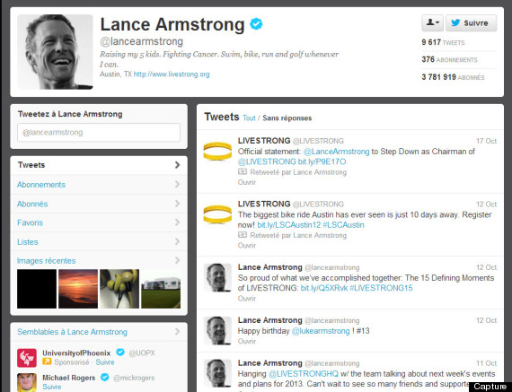 armstrong twitter