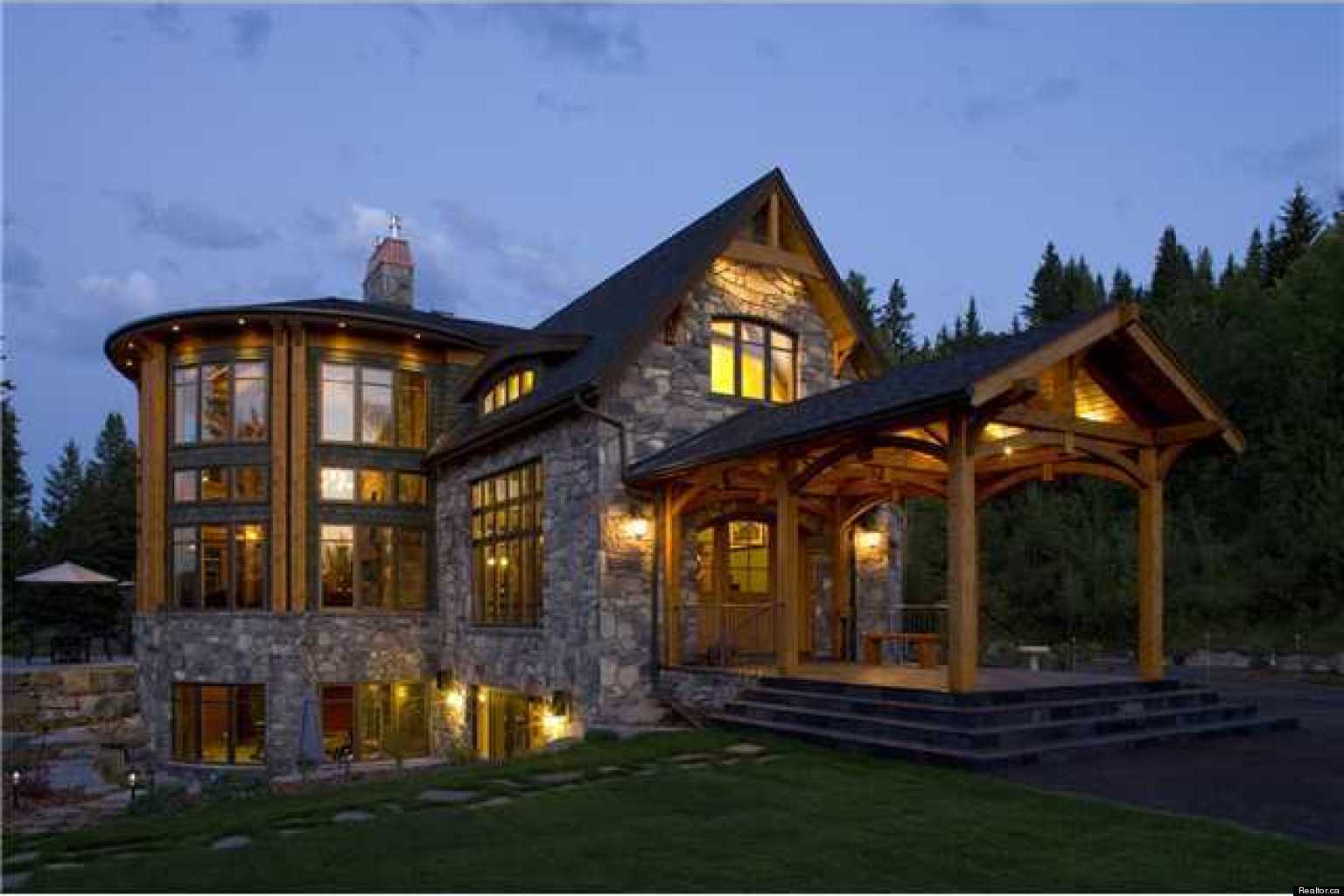 Most expensive houses for sale in calgary photos october 2012 edition Homes with lots of beautiful natural wood