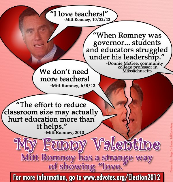 mitt romney i love teachers