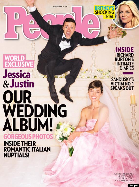 Jessica Biel Explains That Pink Wedding Dress To Elle ...