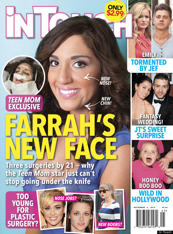Farrah Abraham S Plastic Surgery Teen Mom Star Debuts