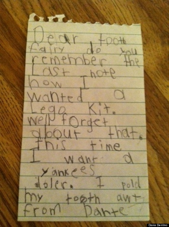 Tooth Fairy Letters From Kids Prove We Are Raising A