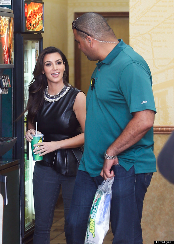kim kardashian subway
