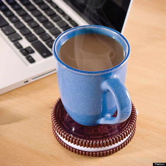 Oreo Cup Warmer Does It Sound A Little Dangerous To Keep Hot Plate On Your Desk Yes Please Proceed With Caution