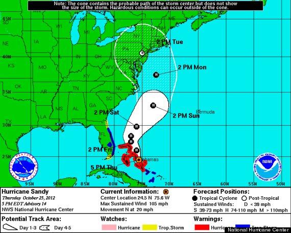 frankenstorm hurricane sandy 2012 map path