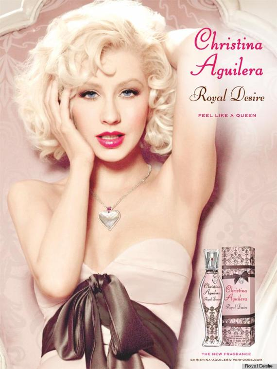 christina aguilera royal desire ad