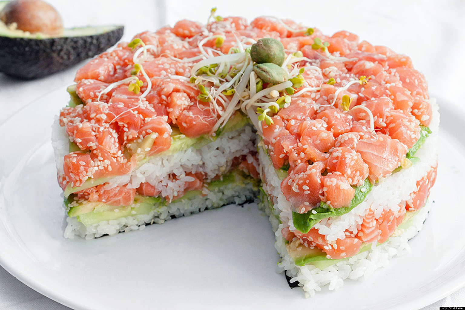 Image result for real sushi cake