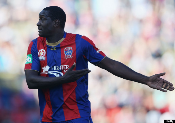 Emile Heskey misses a sitter as Newcastle Jets lose at Brisbane Roar