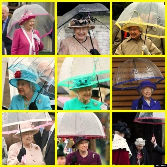 regina elisabetta ombrelli