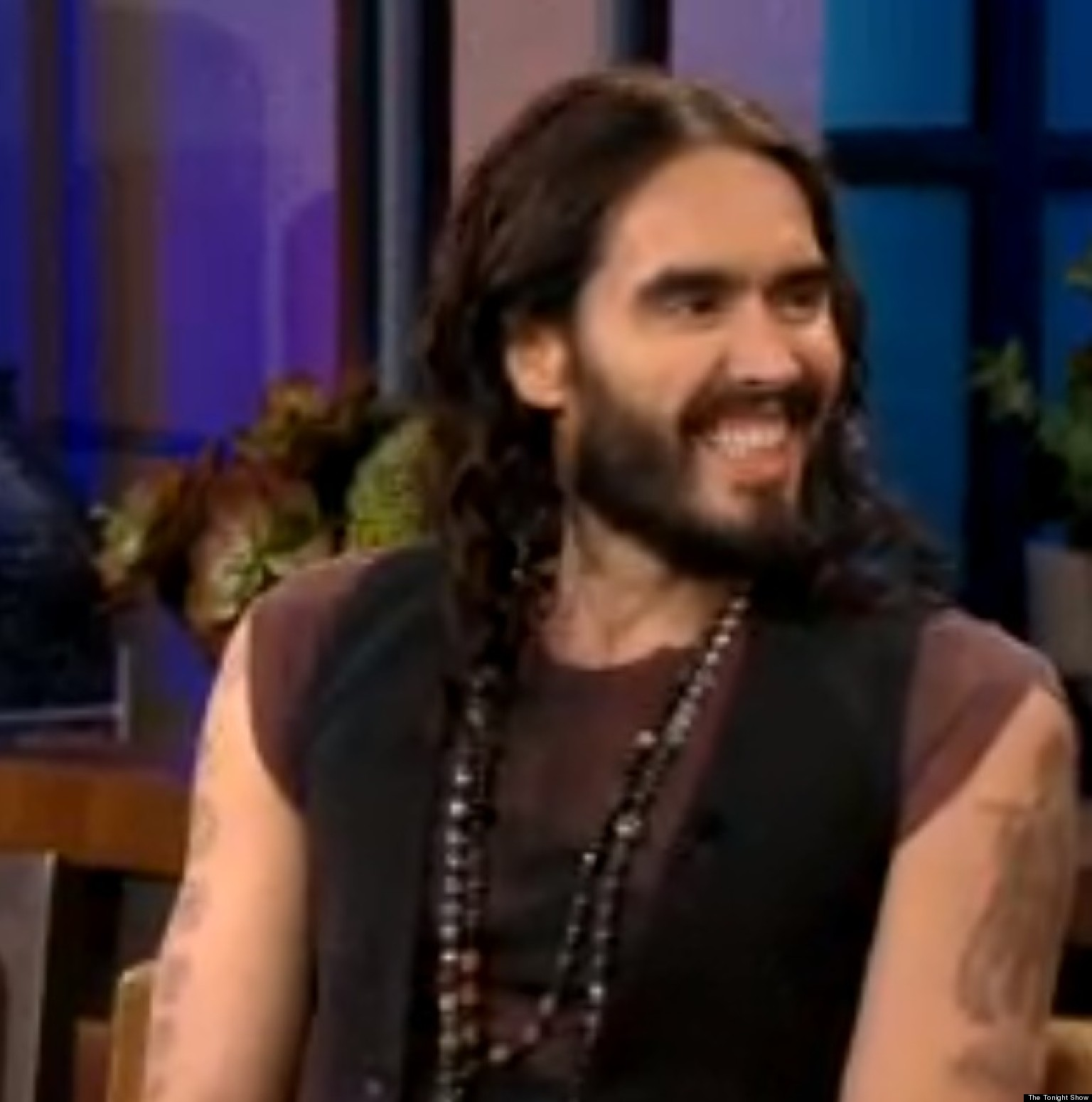 Russell Brand  cave man