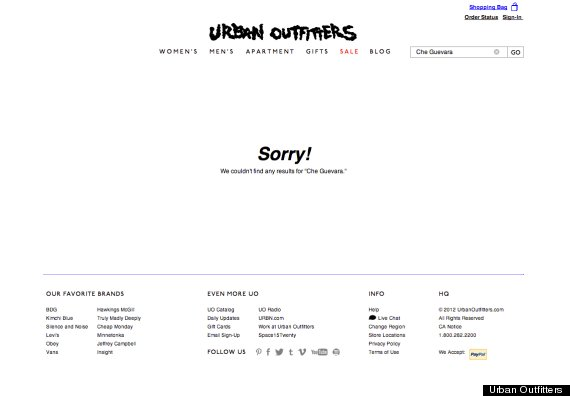 urban outfitters che