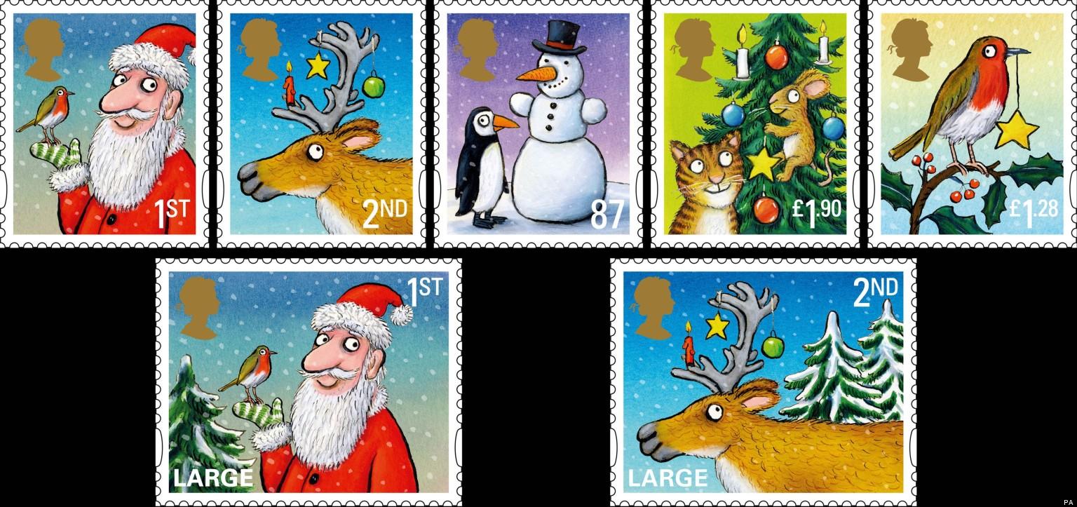 illustrator axel scheffler 39 s christmas stamps huffpost uk. Black Bedroom Furniture Sets. Home Design Ideas