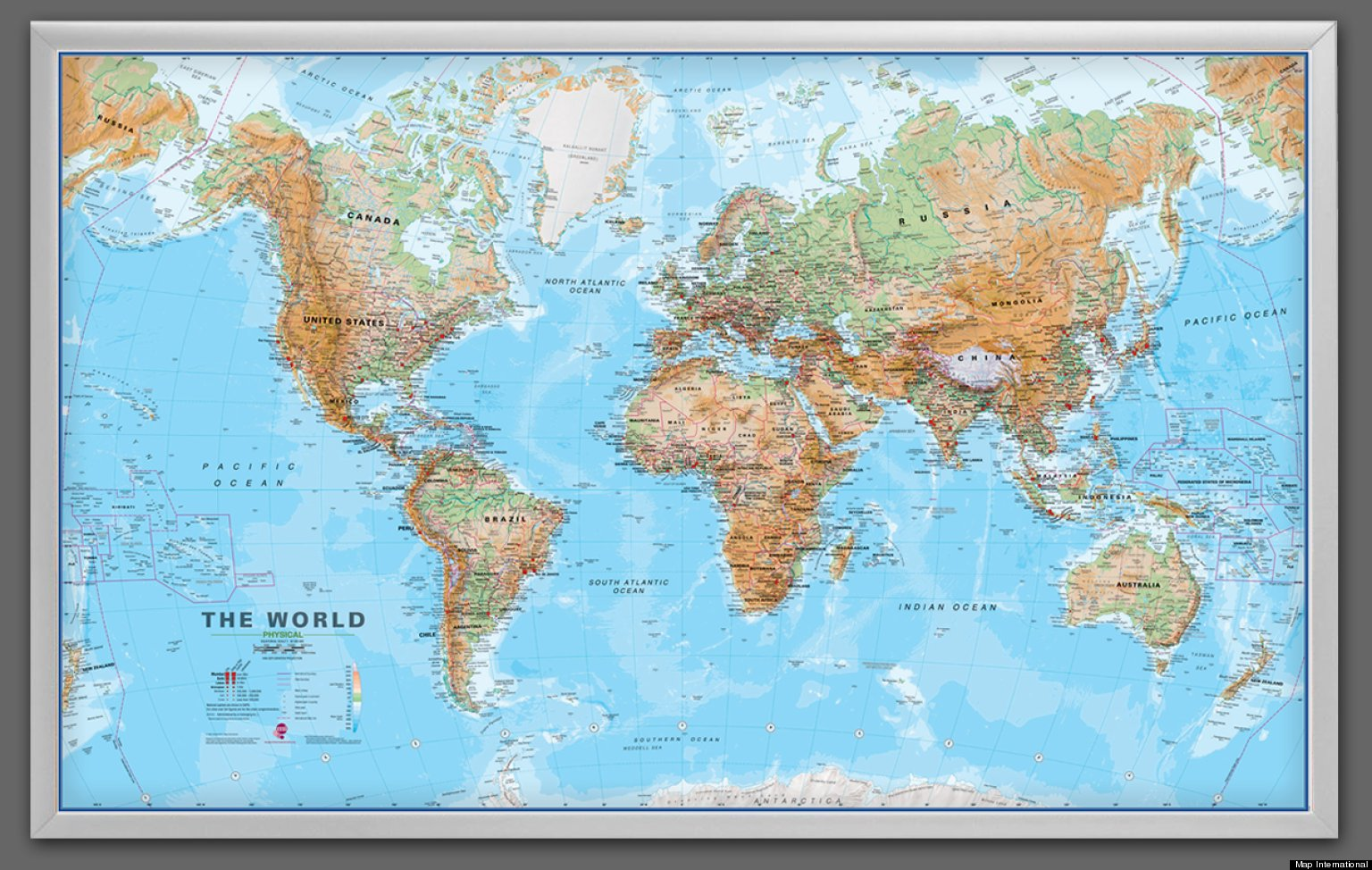 win giant framed world map the huffington post