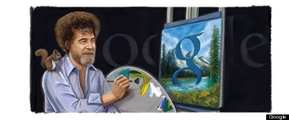google doodle bob ross