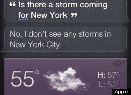 Hurricane Sandy Baffles Siri, But Google Sees All
