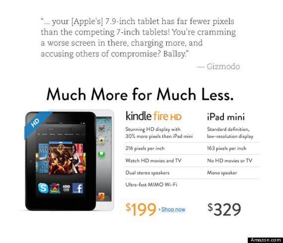 kindle fire ipad mini