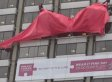 World's Largest Bra Sold To Golden Palace In Benefit Auction For Breast Cancer Campaign