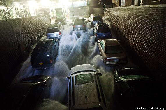 altura del agua en nueva york huracán