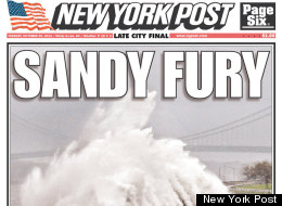 Hurricane Sandy Newspapers
