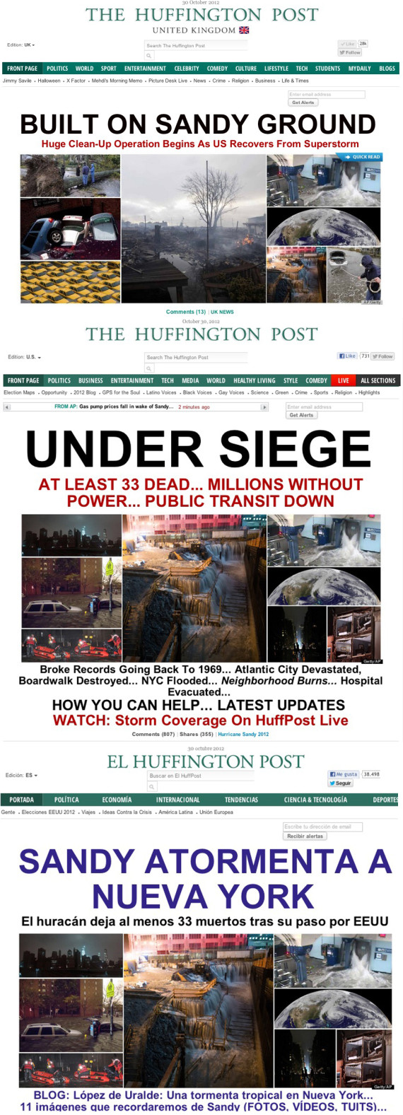 huffpost splashes