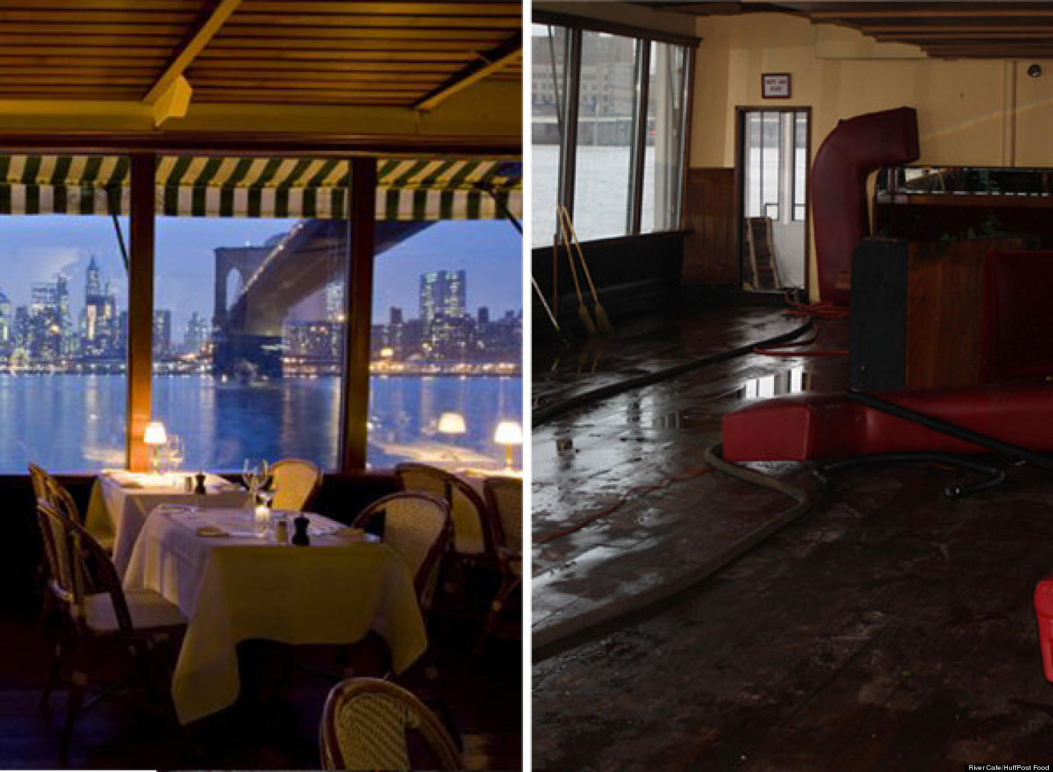 River cafe flooded by storm surge one of many nyc restaurants hit hard by hurricane sandy for 10 river terrace nyc