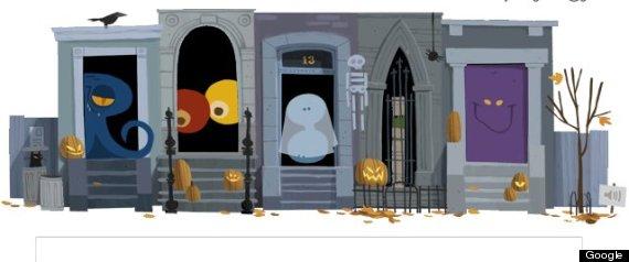 halloween 2012 google doodle