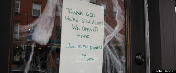 HURRICANE SANDY RESTAURANTS