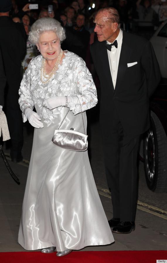 Queen Elizabeth Ii Channels Kate Middleton In Silver
