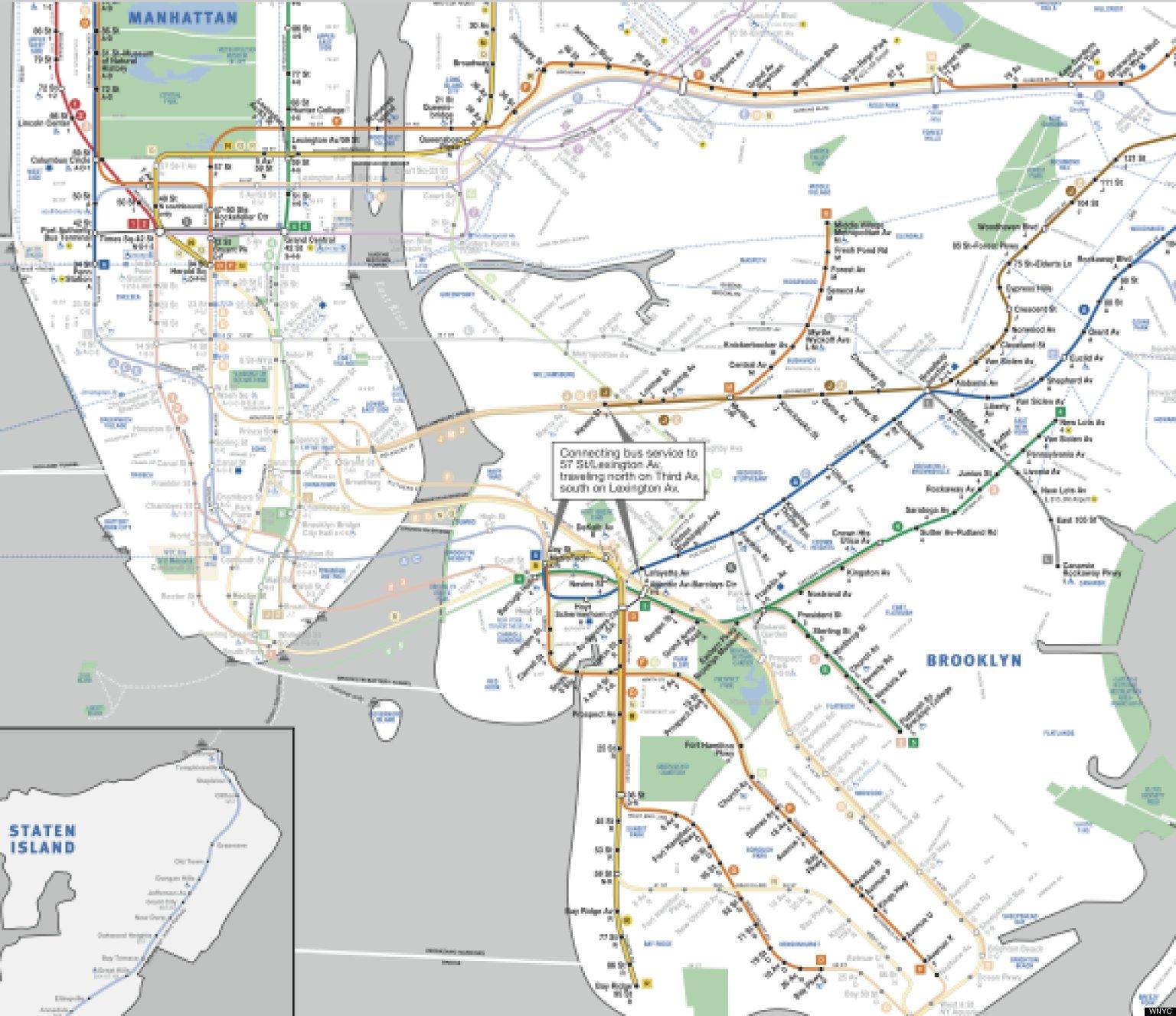 new york map pdf subway