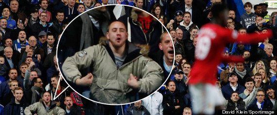 MONKEY CHANT SPLASH CHELSEA MAN UTD