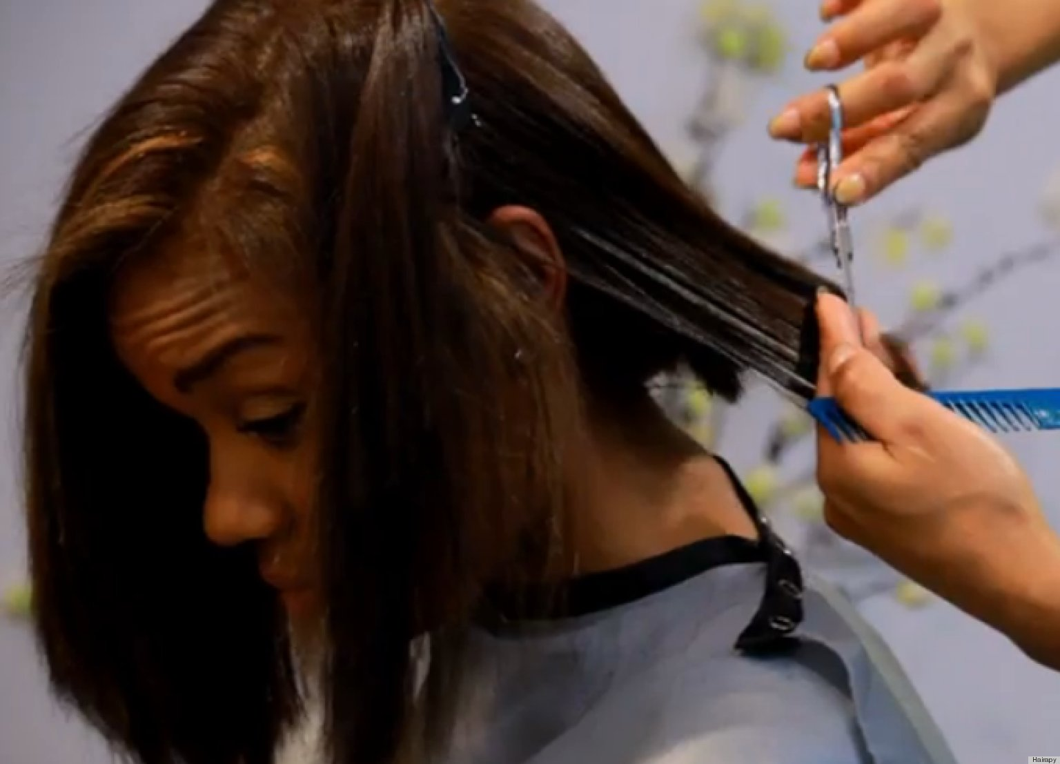 Straight perm damage - One Way To Repair Chemically Relaxed And Damaged Hair Video Huffpost