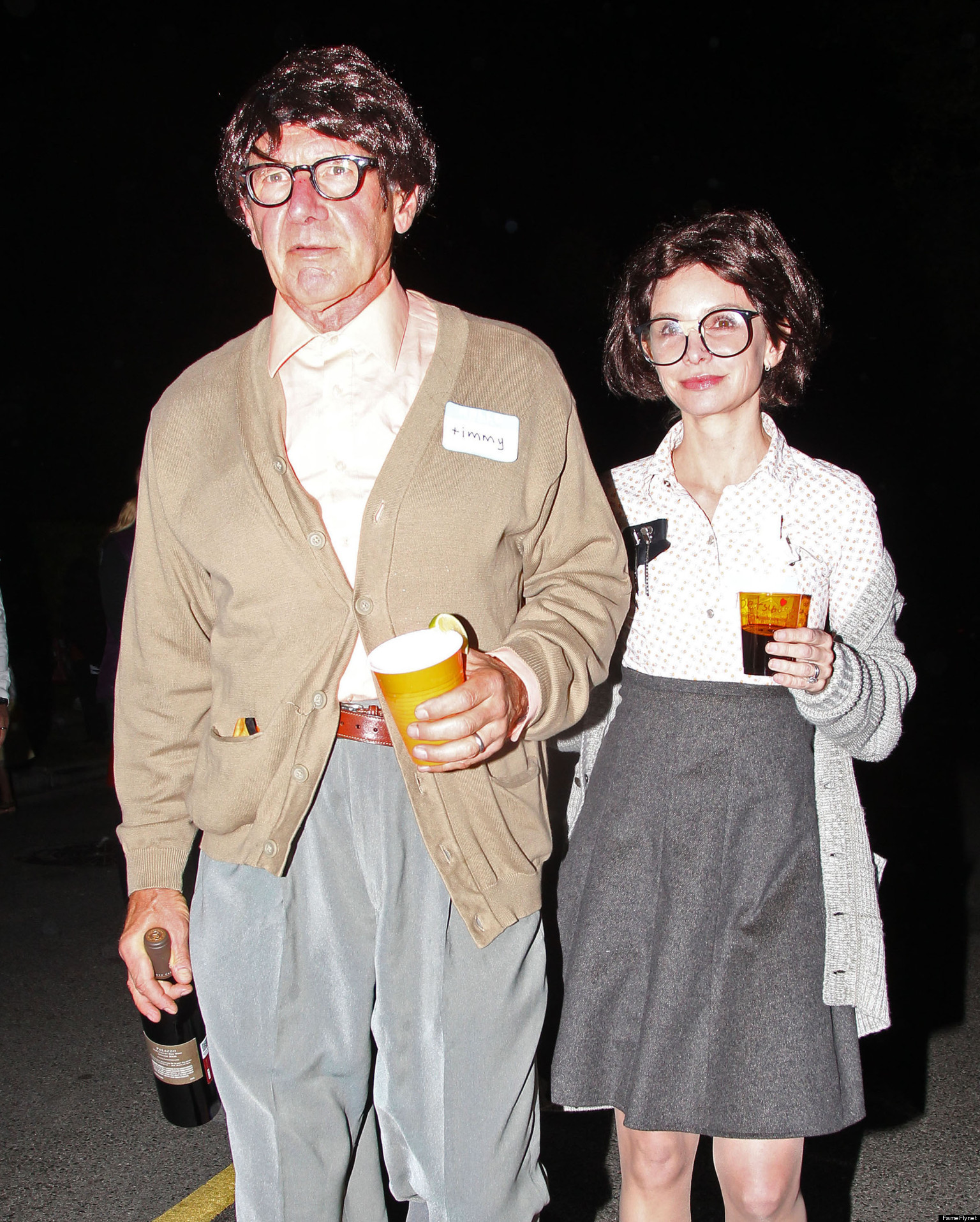 Harrison ford calista flockhart geek out for halloween photo the